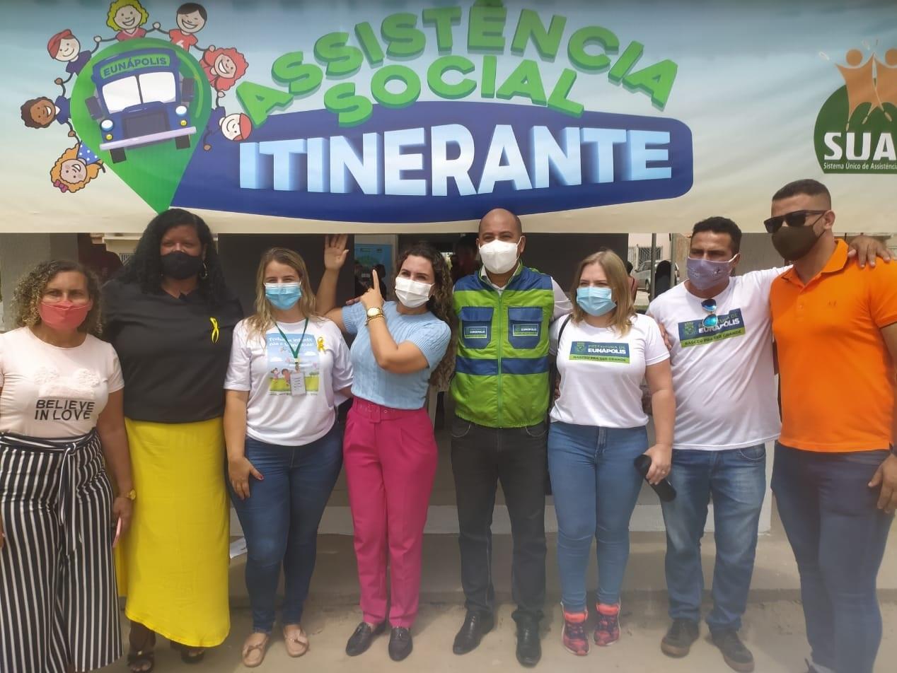 """Prefeita Cordélia Torres participou da edição passada do projeto projeto """"Assistência Social Itinerante"""""""