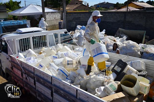 Ação promove recolhimento de embalagens vazias de defensivos agrícolas