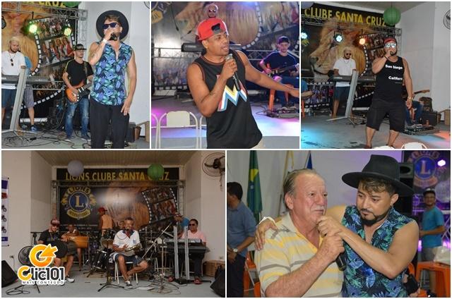 Jarley, Jerry Xocolate, Niltinho Axé Pop (acima); Grupo Elite do Samba, Valmir Bertoldi e Jarley (abaixo)