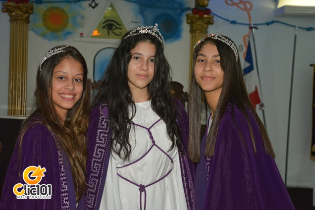 Millena Barbosa (1ª Princesa) / Maria Luisa Farias (Honorável Rainha) / Luiza Moraes (2ª Princesa)