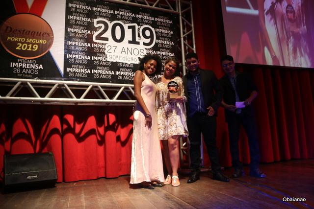Empresária Karine D´Almeida e o empresário Wiris Oliveira ganharam o troféu em nome da Premium Casa das Carne