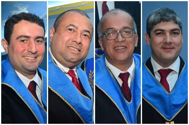 Maico Uendel (Orador) / Carlos Augusto (Secretário) / Almar Macedo (Chanceler) / Ebdon Dutra (Tesoureiro)