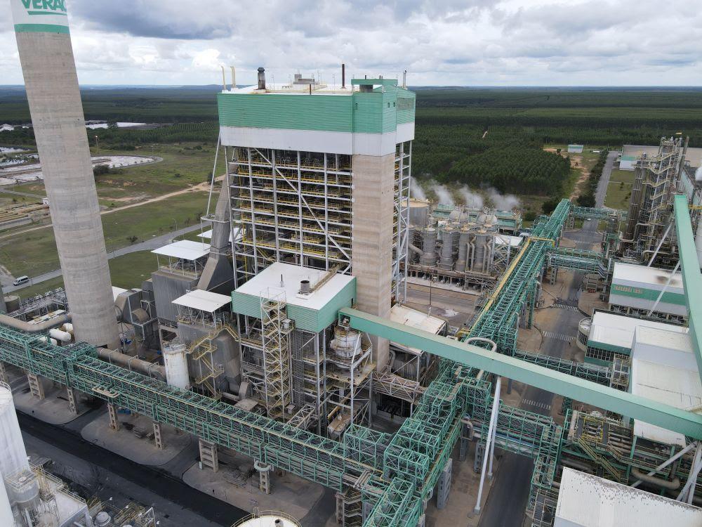 Imagem aérea da caldeira de força da Veracel (Foto divulgação)